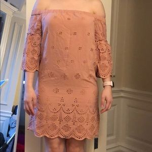 Madewell eyelet off-the-shoulder dress